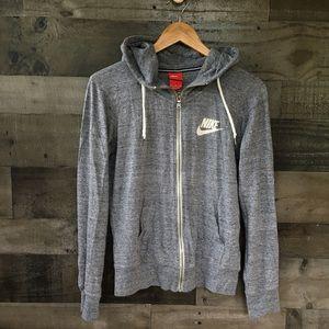 Nike light weight full zip hooded sweatshirt